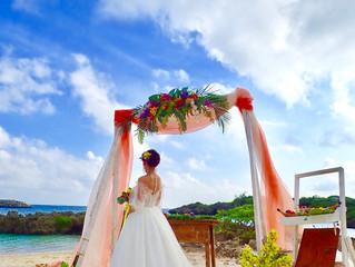 沖縄宮古島で結婚式を挙げられた花嫁様のお写真をご紹介します♡
