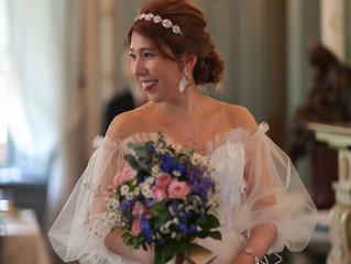 ふんわりお袖が印象的なドレスをオーダーされたお客様からお写真をいただきました💖