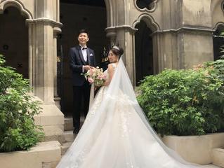 パリでご挙式された花嫁さまからお写真が届きました😊