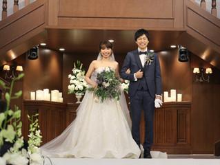 枝柄ウェディングドレスをオーダーされたお客様からご挙式のお写真をいただきました✨