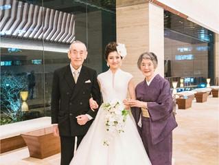 インターコンチネンタル大阪でご挙式された花嫁さまです💞