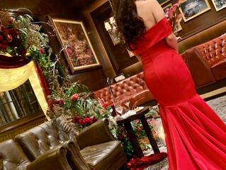 赤のマーメイドをオーダー頂いた花嫁様よりお写真をいただきました❤️