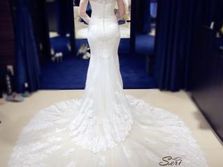 お客様のご試着写真♡マーメイドドレスとってもお似合い💓素敵です〜❣️