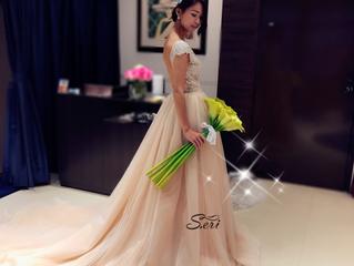 背中で魅せる大人の「オープンバック#カラードレス」綺麗に着こなしでいらっしゃいます💓