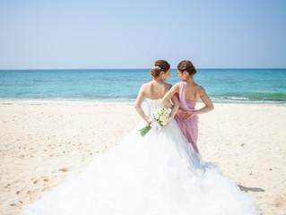 沖縄でのリゾートウエディングのお写真をいただきました✨