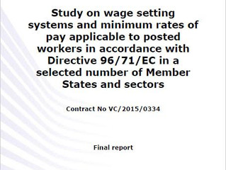 Study on wage setting systems and minimum rates of pay for posted workers now published
