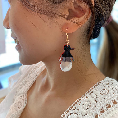 Penguin Earrings from Soda Can