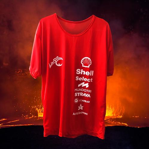 Camiseta Masc. Vermelha com Manga