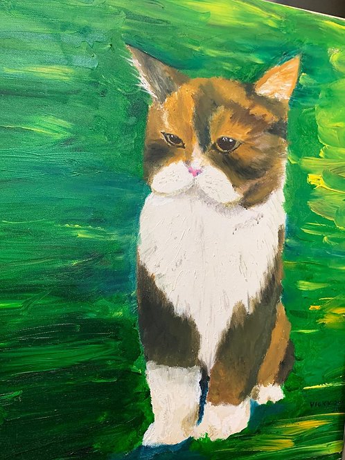 Hand Painted Cat  - Joey