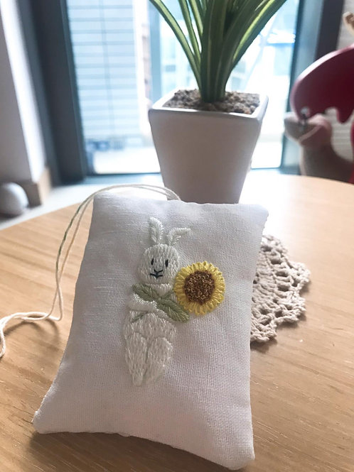 Lavender Sachet with Hand Embroidery