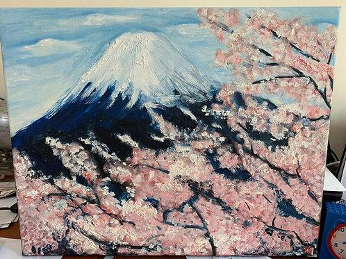Cherry Blossom at Mountain Fuji