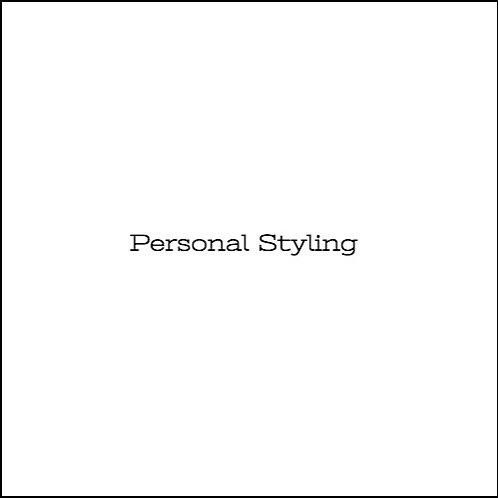 Personal Styling/Shopping