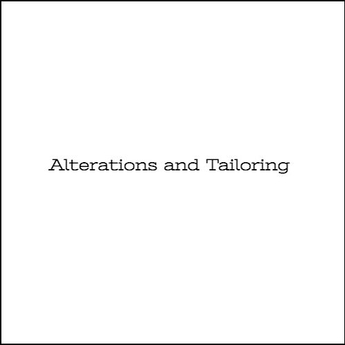 Alterations & Tailoring