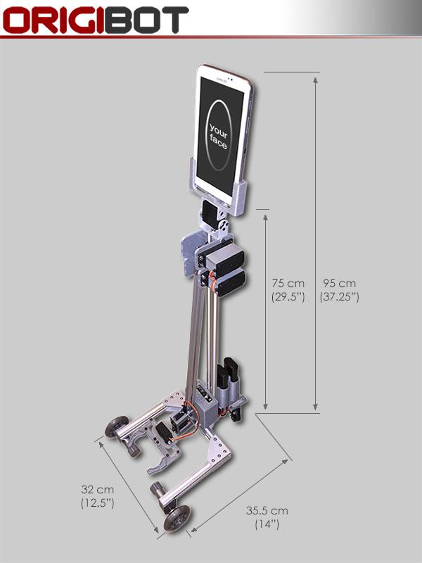 Origibot Prototype Dimensions