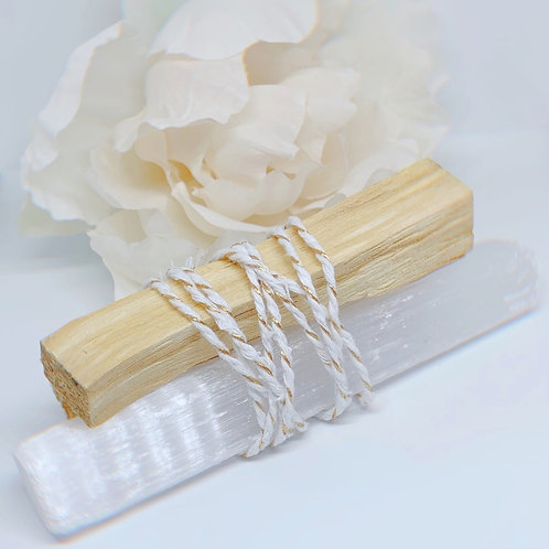 Palo Santo + Selenite Bundle