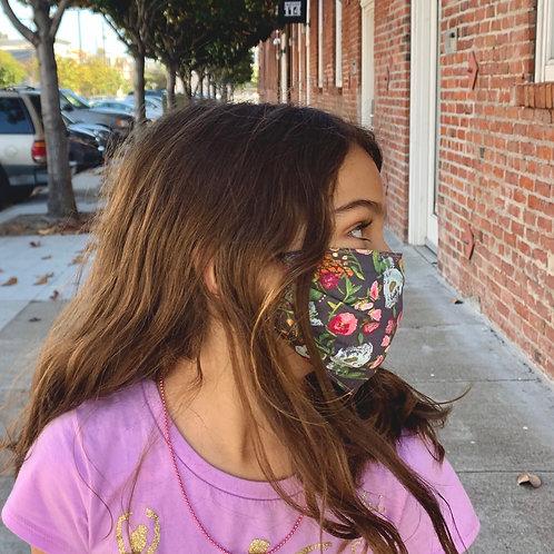 Kids Deep Ranuculus + Peony Face Mask