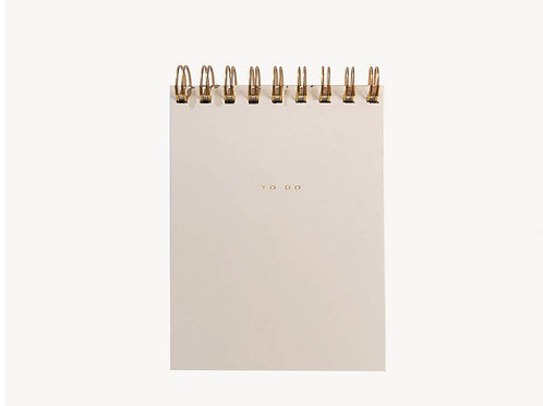 Gold Foil Pressed To-Do Notebook in Nude