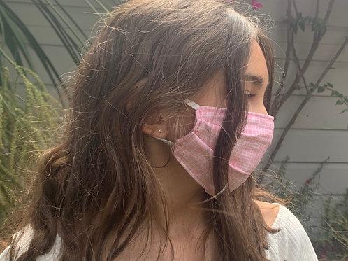 Kids Pink + White Face Mask