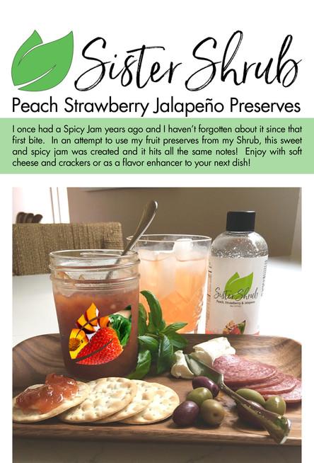 Peach Strawberry Jalopeno Jam