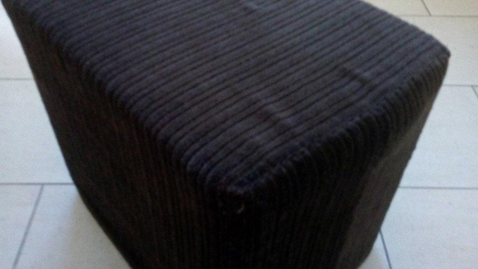 Schaumstoffquader mit Stoffbezug braun, 32x45x40 cm