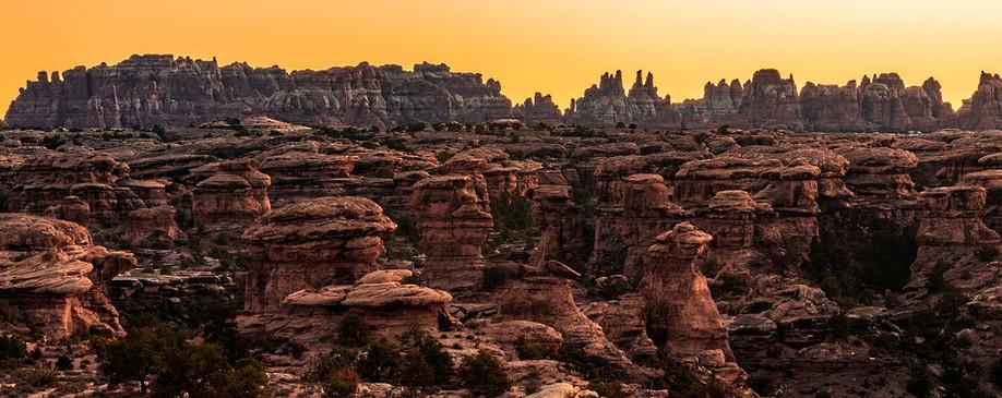 Sunset Needles Canyonlands National Park