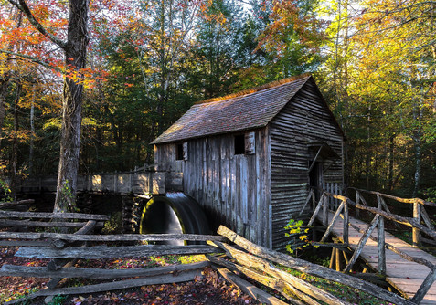 Cades Cove mill Fall