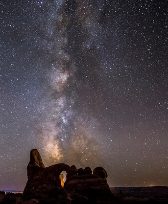 Turret Arch Milky Way Arches National Park