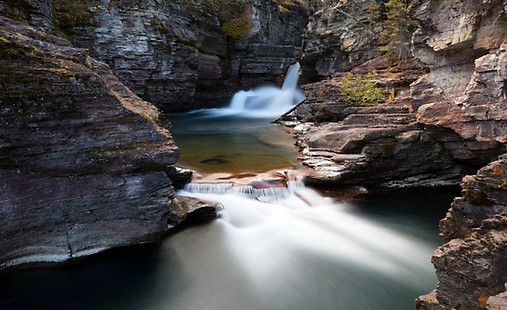 St Mary's Waterfall Glacier National Park