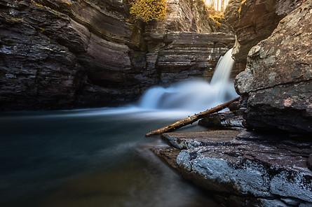 St Mary's Falls Glacier National Park
