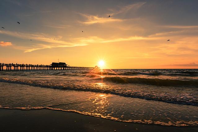 Sunset Naples Pier Florida