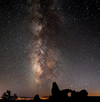 Milky Way Turret Arches National Park