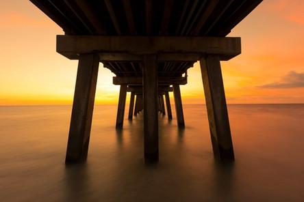Sunset Long Exposure Naples Pier Florida