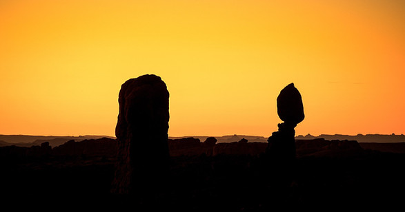 Sunset Arches National Park