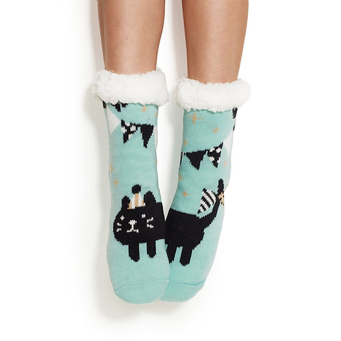 Party Cat Cozy Socks
