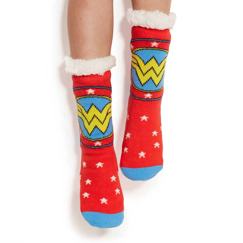Wonder Woman Sherpa socks