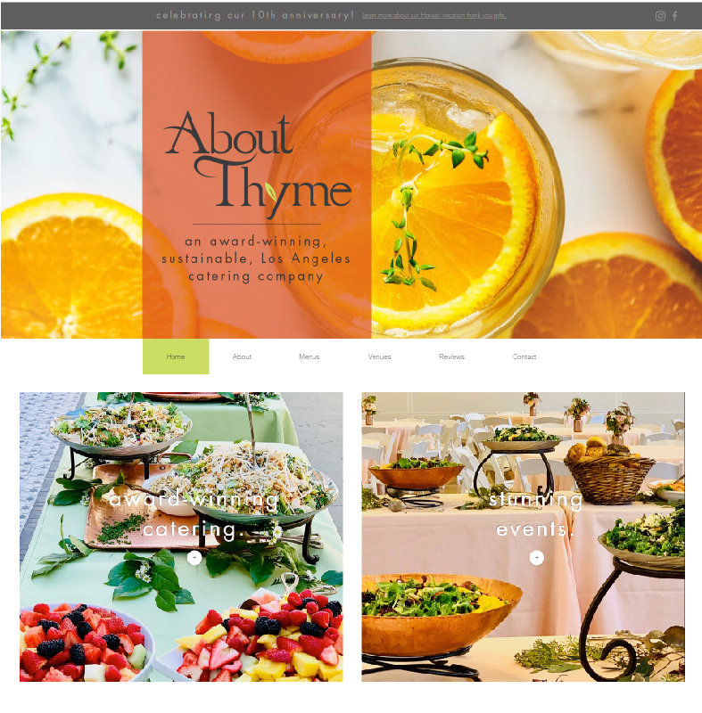 Pixlrabbit catering web design atlanta