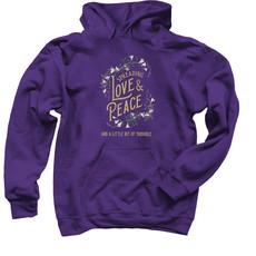 Spreading Love & Peace Purple Hoodie