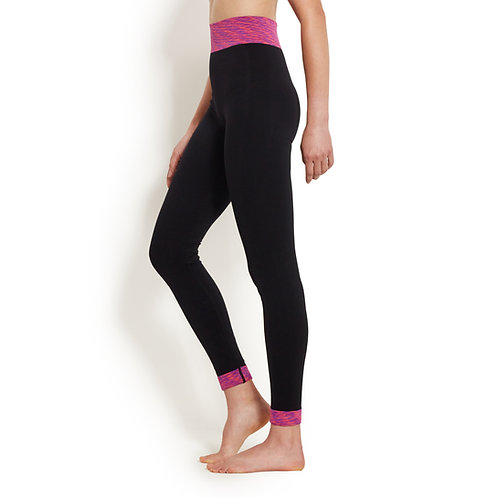 Black Yoga Pants with Color Bands