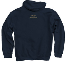 Trouble Clothes Navy Hoodie back