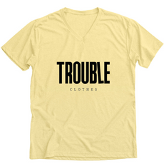 yellow v-neck tee trouble clothes.PNG