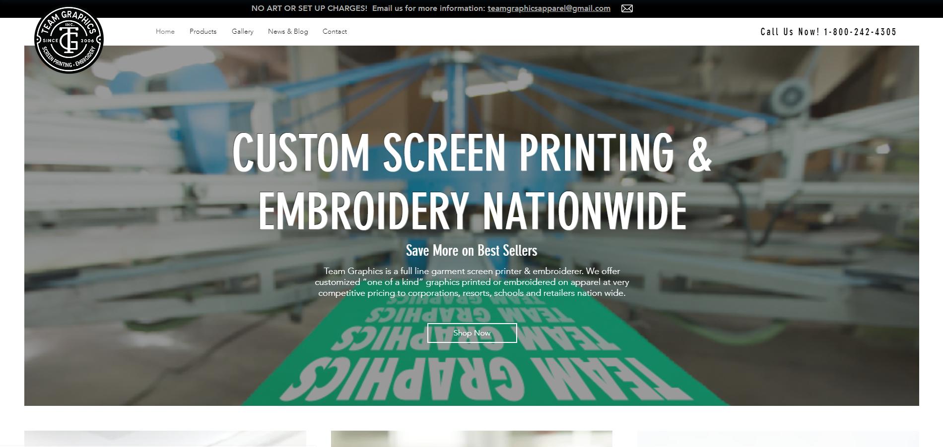 ee8a12c3 Custom Screen Printing | Team Graphics, Inc. | United States