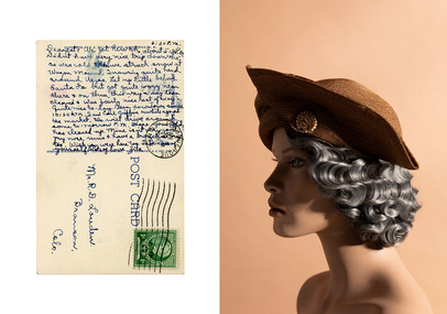 """I know Zita started her notes to Roy with """"Dearest"""" and signed them """"Lots of love"""".  Postcard postmarked April 6, 1940"""