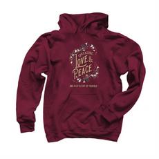 Spreading love & peace hoodie maroon