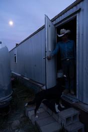 Dad standing in the backdoor