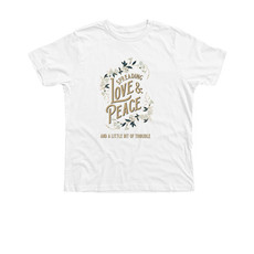 Trouble Clothes white youth tee.jfif