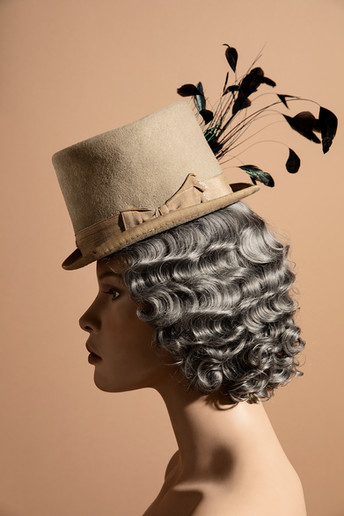Amongst the many hats (<50), there were three that were most likely not Zita's including this Victorian top hat - 1880s-1890s. Since she was born in 1891 this probably was not hers but it was something she kept, maybe to remind her of someone else.