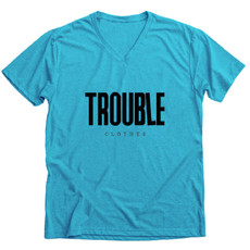 teal v-neck tee trouble clothes.jpg