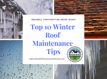 Roofer Covington GA Braswell Construction Group Issues Roofing Winter Tips