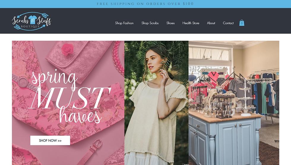 boutique clothing store web design, pixlrabbit
