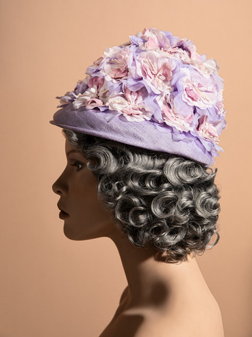 1960s - home decorated hat